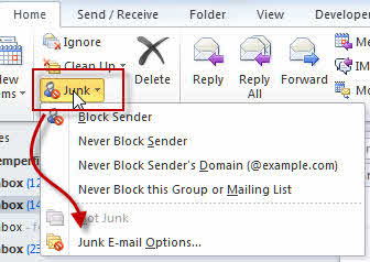 open-junk-mail-options